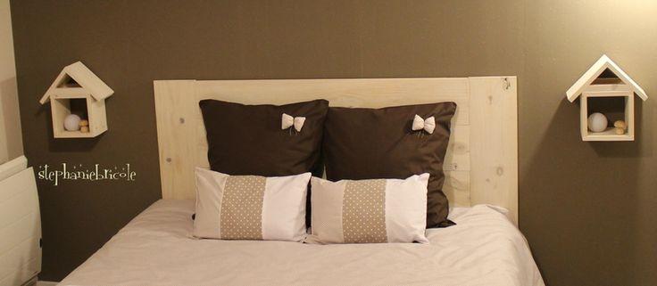 Une tête de lit en bois très facile à faire