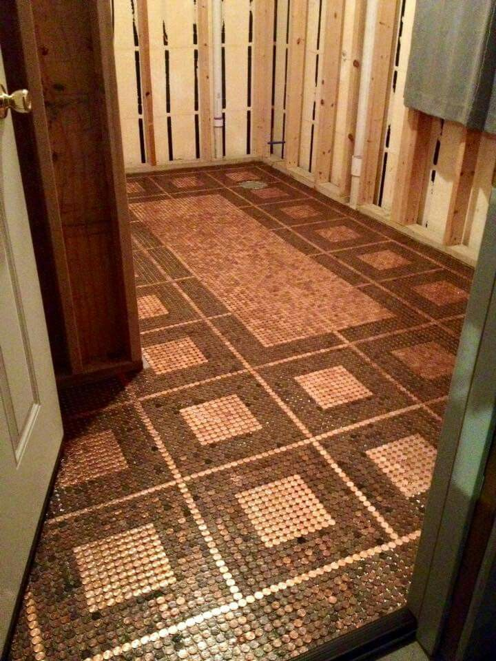 Best 20 Pennies Floor Ideas On Pinterest Penny Flooring