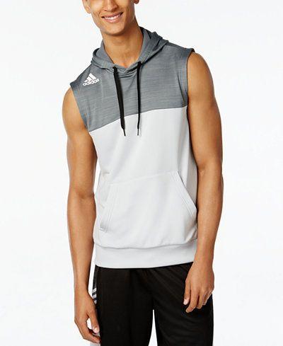 adidas Men's Team Speed Sleeveless Hoodie