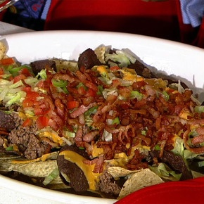 Clinton's Texas Nachos: In this recipe I married a bacon cheeseburger with nachos. One word comes to mind, yum!