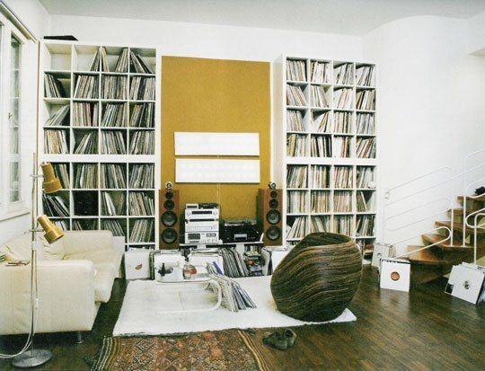 Flickr Finds Stacked Ikea Shelves For Record Storage