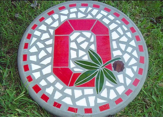 Best 25 ohio state football ideas on pinterest ohio Round wooden stepping stones