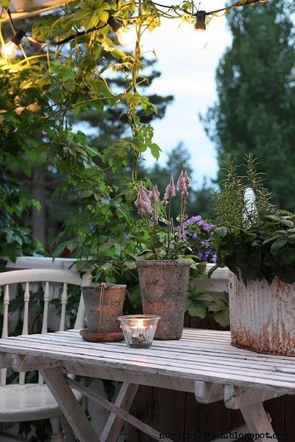 .: Garden Ideas, Outdoor Table, Outdoor Living, Rustic Garden, Designing Outdoors, Landscaping Gardening Ideas, Gardens, Garden Dreams