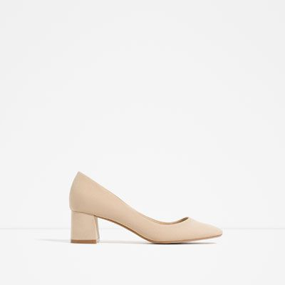 Image 1 of MEDIUM HEEL SHOES from Zara