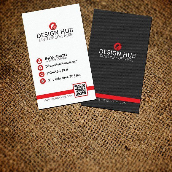 Vertical Business Card Template By Psd Templates On