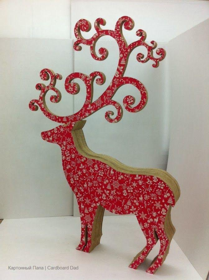 Сardboard Christmas deer: