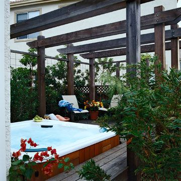 Privacy Solutions For Your Deck Pergolas Hot Tubs And Lush