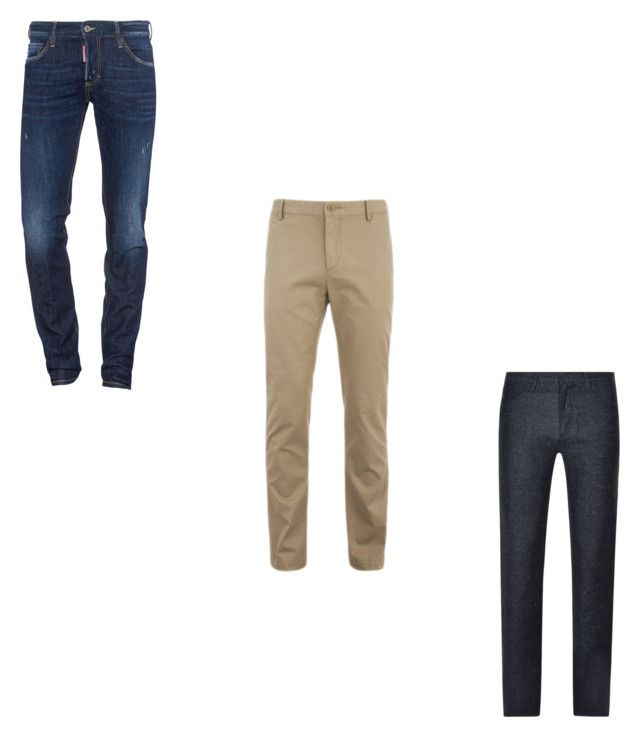 """""""Men's Capsule Wardrobe - Bottom"""" by justian-edwin-darmawan on Polyvore featuring Dsquared2, Lacoste, DKNY, men's fashion and menswear"""
