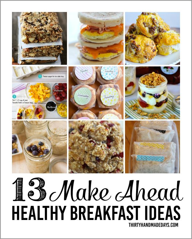 Healthy Make Ahead Breakfasts- an easy way to get ahead on daily tasks with a healthy twist.