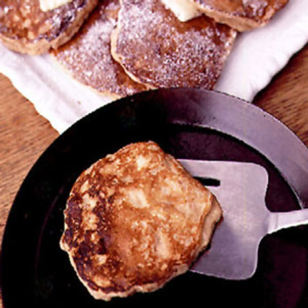 The secret to these seasonal pancakes, adapted from The Breakfast Book by Marion Cunningham, is sweet chunks of stewed quince.