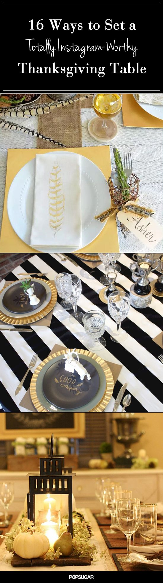 16 real-girl Thanksgiving table settings to steal.