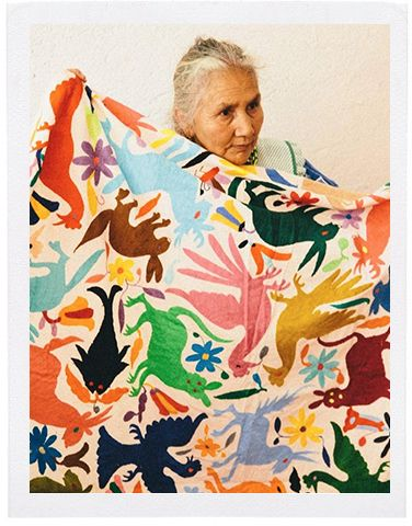 Multi-color Otomi print blanket...Meet Our Artisan Partners – The Little Market