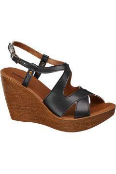 Siyah Dolgu Topuk Sandalet #modasto #giyim #moda https://modasto.com/graceland/kadin/br11937ct2