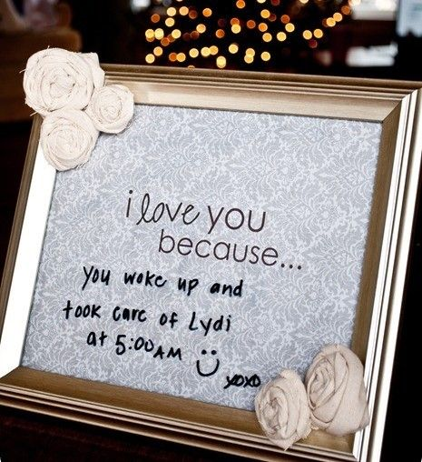change your message daily with a dry erase marker on the glass. So sweet.