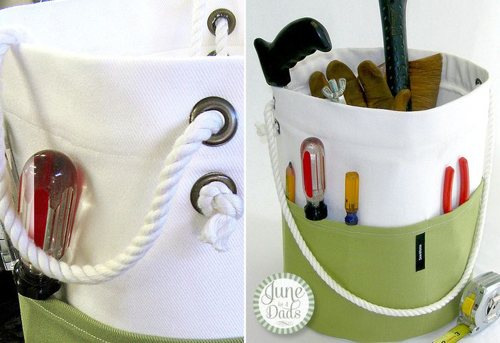 Bucket tote, this would be great for knitters or crocheters too. Oh how about quilters Too :)