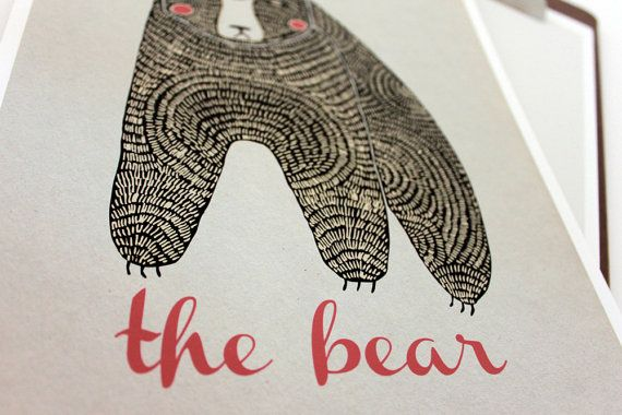 The Bear Print by Gingiber on Etsy