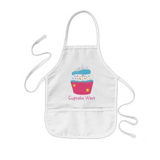 Girl's Pink Cupcake Wars Baking Birthday Party Kids' Apron