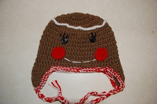 Free Crochet Pattern For Gingerbread Man Hat : 37 best images about Crocheted gingerbread on Pinterest ...