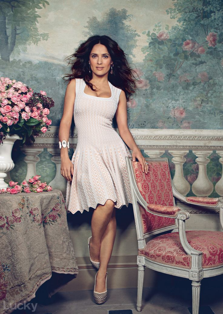 Salma Hayek, our May cover star, shot by Patrick Dermachelier, styled by  Isabel Dupré.  Read the full interview with Jean Godfrey-June right here. She's 45, people. 45.