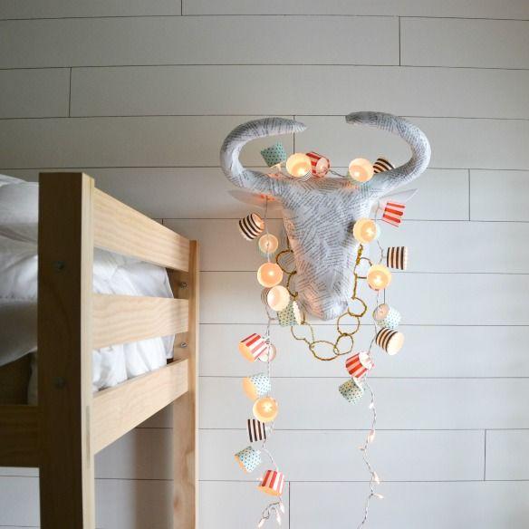 Une Guirlande pour la chambre de bébé avec des moules à cupcake, DIY 100% Gourmand !