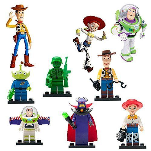 TOY STORY LOT DE 8 MINI FIGURINES COMPATIBLE LEGO WOODY BUZZ ECLAIR,…