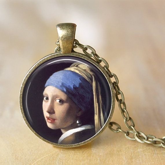 Girl with a Pearl Earring  Handcrafted by LiteraryArtPrints