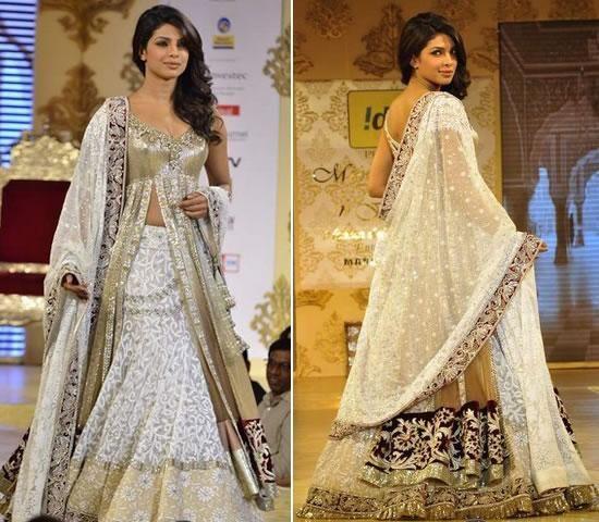 Manish Malhotra Summer dresses 2014 (8) - priyanka chopra in white bridal lehenga