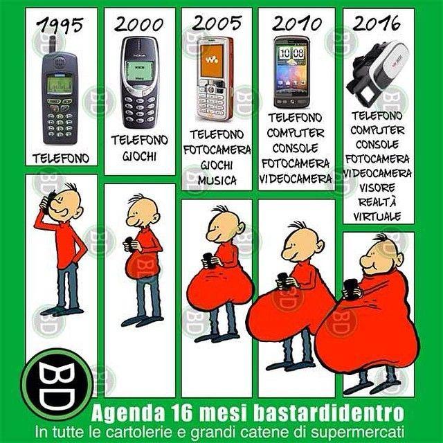 #evoluzione a confronto #bastardidentro #cellulare #ipnoticamentebastardidentro www.bastardidentro.it