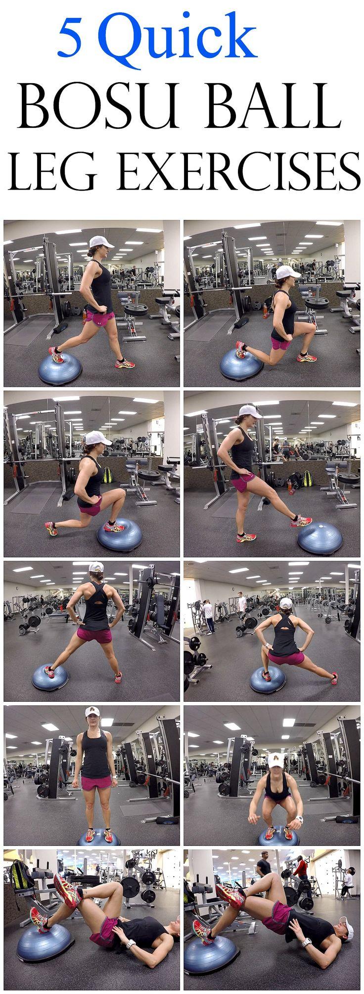 5 Quick Bosu Ball Leg Exercises