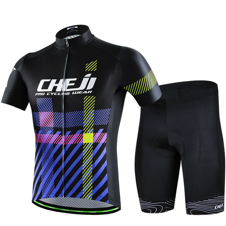 ==> [Free Shipping] Buy Best Cheji bicicleta cycling suit men short sleeve sweat absorption black purple cycling racing clothing mtb clothing ropa ciclismo Online with LOWEST Price | 32819266185