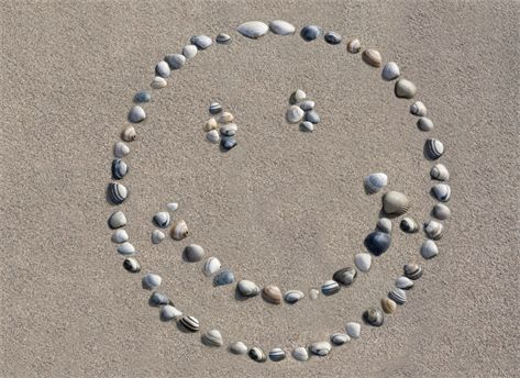 Smiley op het strand!