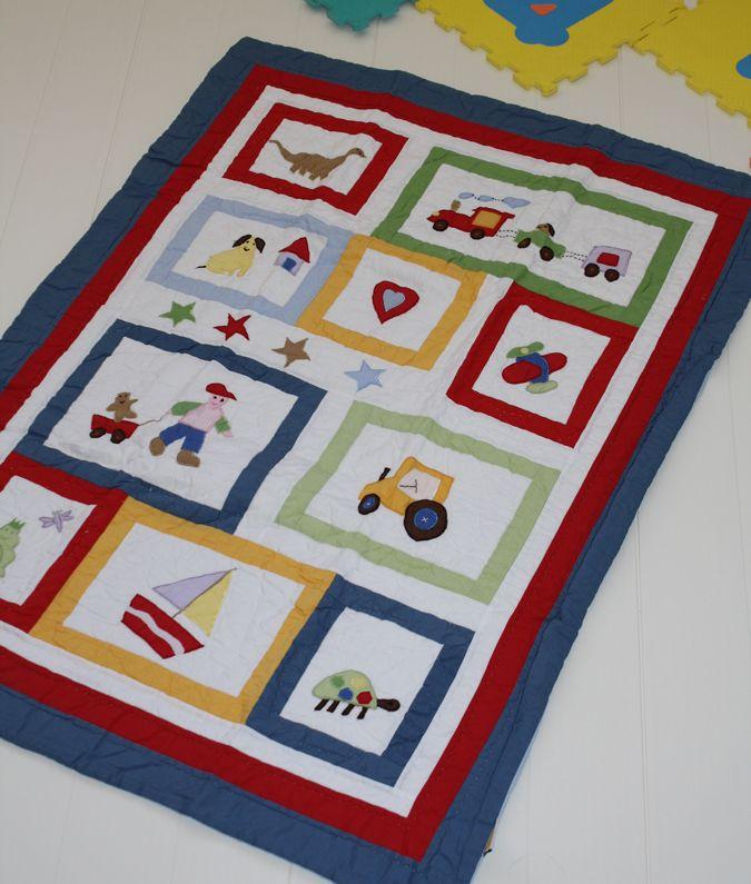 Colcha infantil modelo barco 100 algod n con dise o tipo - Colchas patchwork infantiles ...