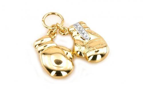 "Zlatý prívesok ,,Boxing gloves"" boxerske rukavice žlté zlato"