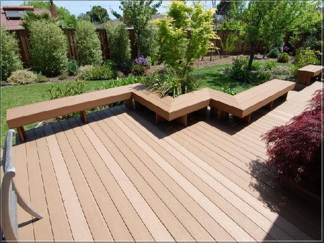52 best deck bench images on pinterest deck benches for Floating bench plans