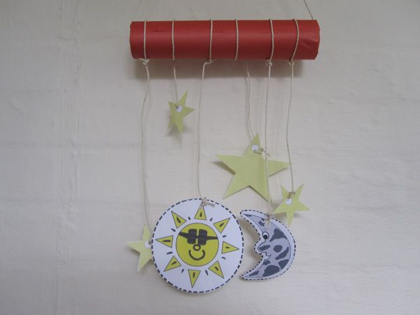 30 best on the fourth day images on pinterest for Moon and stars crafts
