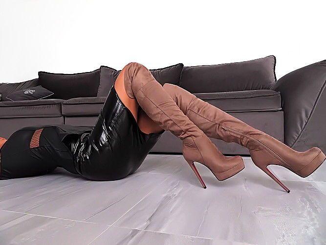 NEU HOHE Lange Overknee Plateau Damen Stiefel Z80 Schuhe Boots Sexy High Heels