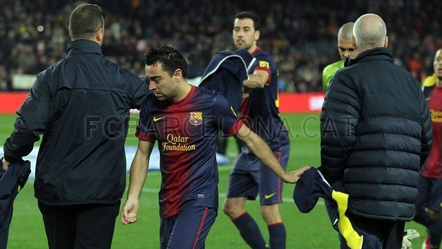 Xavi Hernández, FC Barcelona | FC Barcelona 5-1 Osasuna | 2013-01-27.