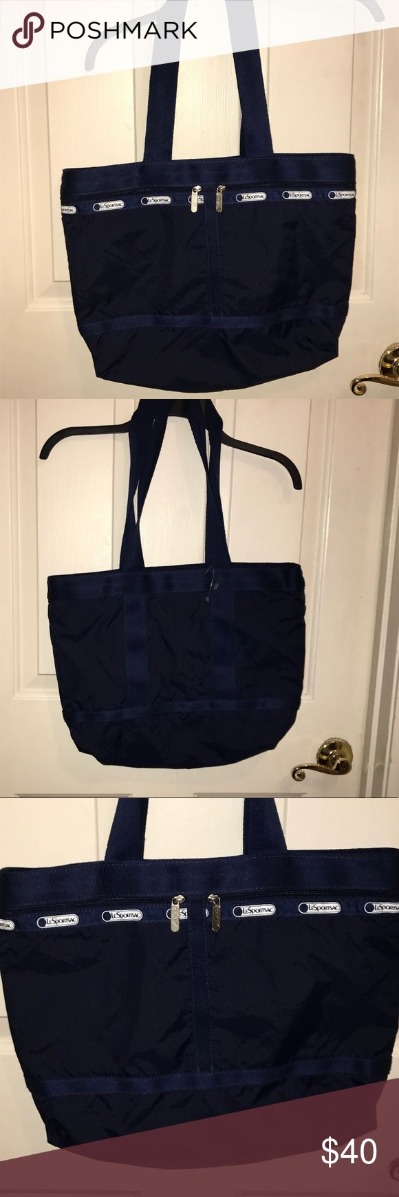 "⚡️SALE⚡️NWOT 💚LeSPORTSAC💚Large one the go Tote ⚡️FLASH SALE⚡️NWOT 💚LeSPORTSAC💚Blue Large On -The-Go Tote. Two zipper outer compartments. One zippered enter compartment. Measures 15.5""! x  17"" x 7.5""z Has been in storage so does smell a little musty and needs to be washed but BRAND NEW‼️I've just lost the original $90 tag Lesportsac Bags Totes"