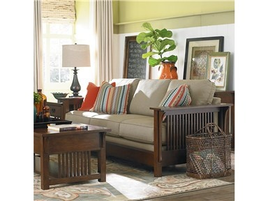 Shop for Bassett Grove Park Mission Sofa, 1271805, and other ...