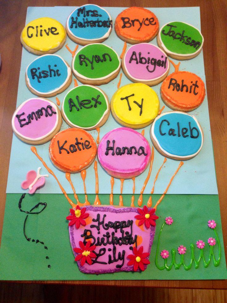 Preschool Classroom Name Ideas : Cookies for a kindergarten class to celebrate birthday
