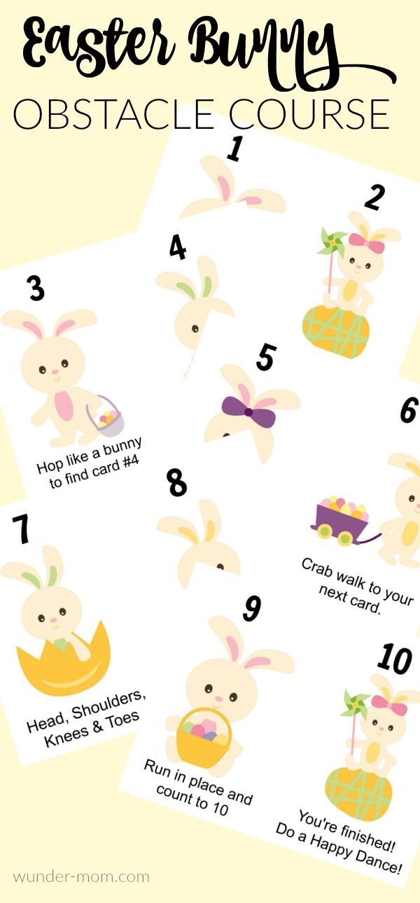 Spring around here means time to GET OUTSIDE and play! We love obstacle courses and this Easter Bunny Obstacle course is great for keeping them busy and working on gross motor skills. Did you love our Leprechaun obstacle course that we put out last month?