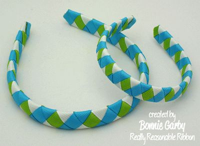 Make Time 2 Craft: Woven Ribbon Headband Tutorial