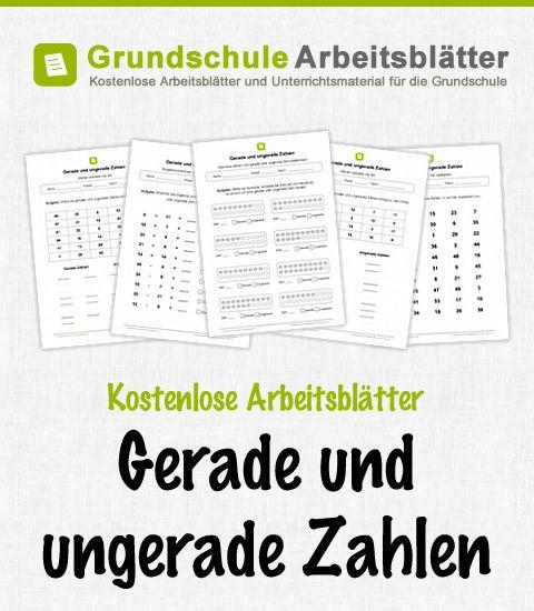 Kostenlose Arbeitsblätter und Unterrichtsmaterial zum Thema Gerade und ungerade Zahlen im Mathe-Unterricht in der Grundschule.