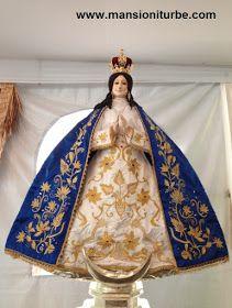 Virgen de la Salud de Pátzcuaro realizada en Pasta de Caña Ganadora de Concurso Artesanal en Noche de Muertos.