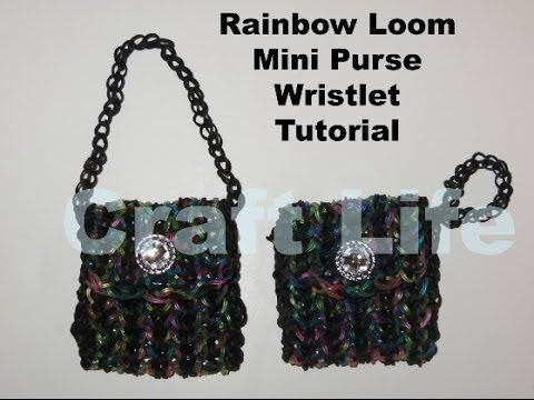 Rainbow Loom Mini Purse Wristlet Tutorial ~ One Loom