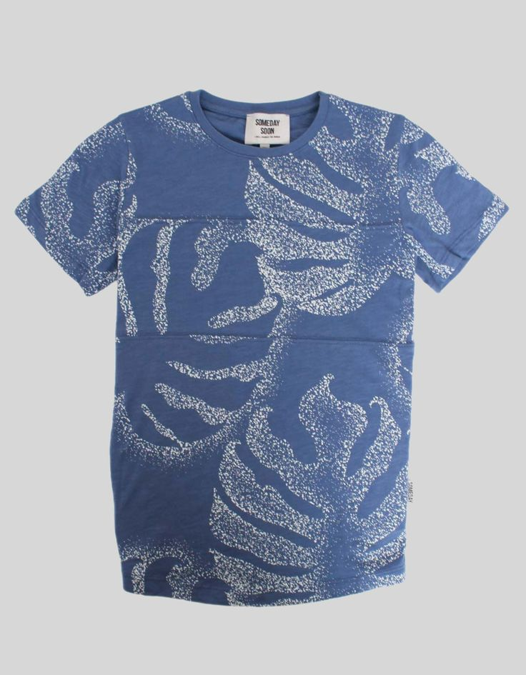 Someday Soon Blue Palm Tee | Accent Clothing