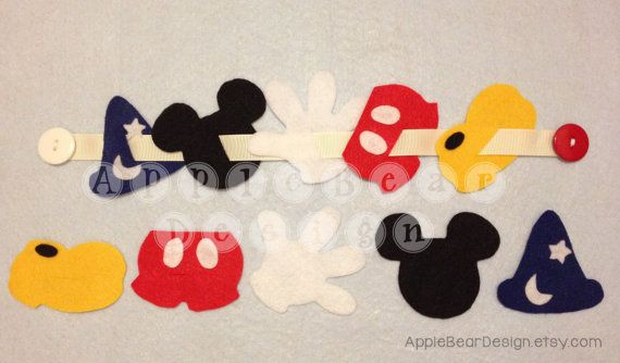 Button Snake Felt Games: Mickey Mouse Theme