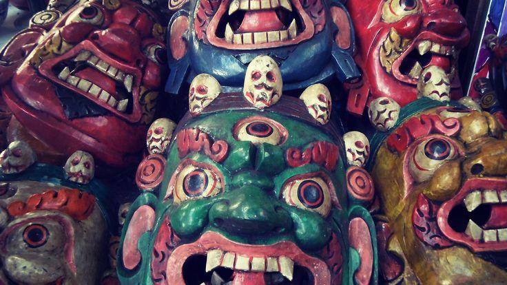 Hongkong Big wave bay market - gods masks
