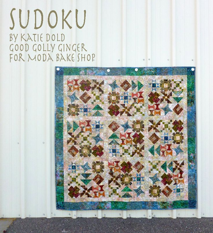 Free Quilt Patterns For Moda Fabric : Moda Bake Shop free pattern Sudoku by Kate Dold using Sticks and Stones fabric by Laundry Basket ...
