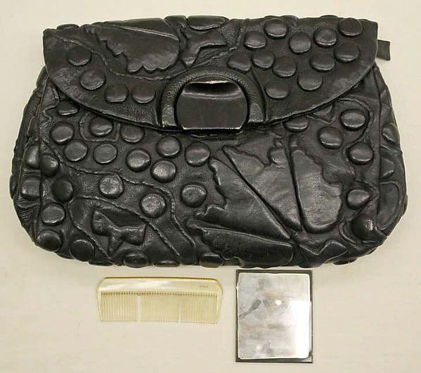 Purse 1940, Harry Rosenfeld, leather, silk, American